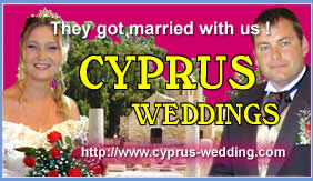 Cyprus holidays bring you weddings in Cyprus